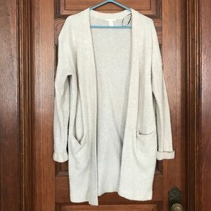 H&M long tan cardigan